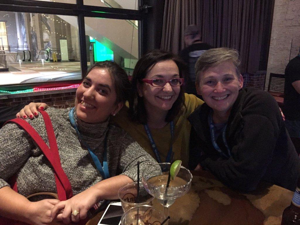 Rocio, Beth e Francesca - Women of WordPress