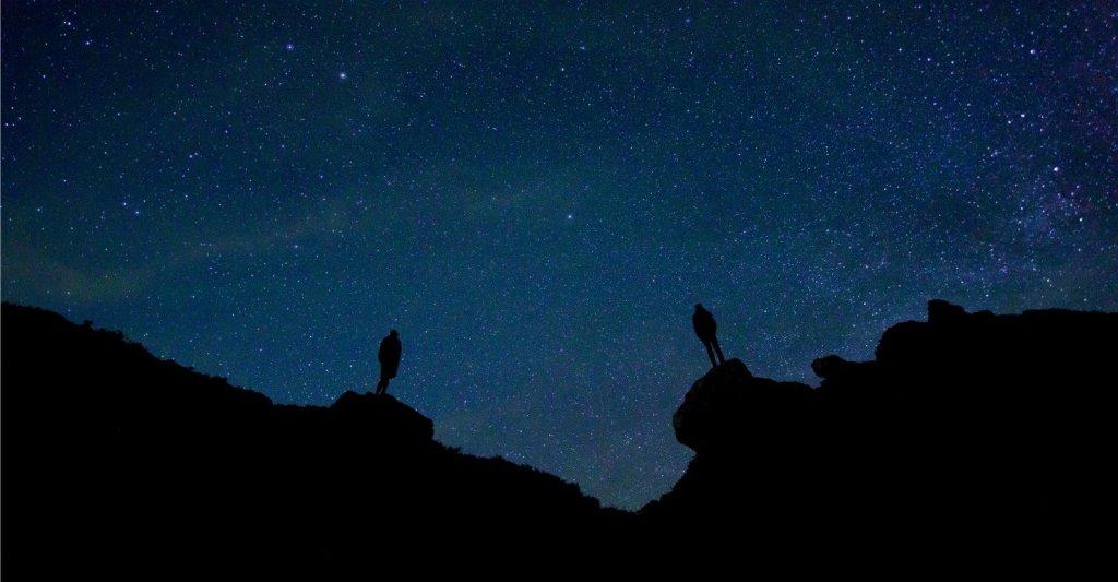 Foto di notte stellata