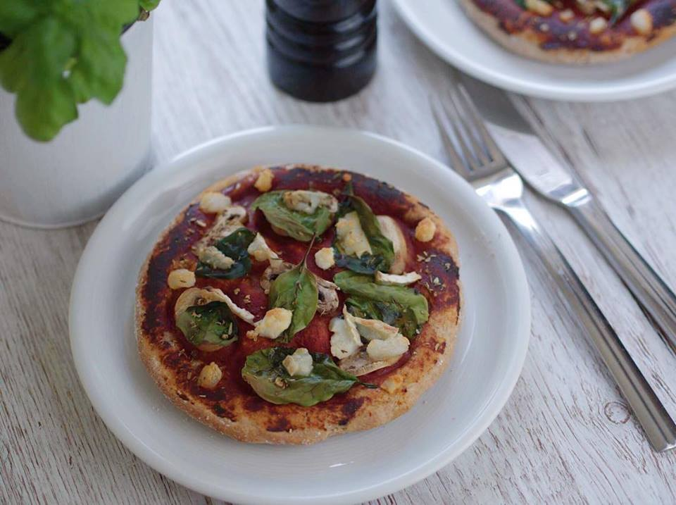 vegane Mini-Pizza