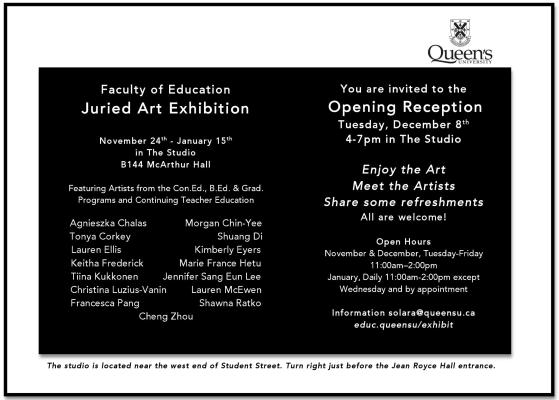 Faculty of Education Juried Art Exhibition