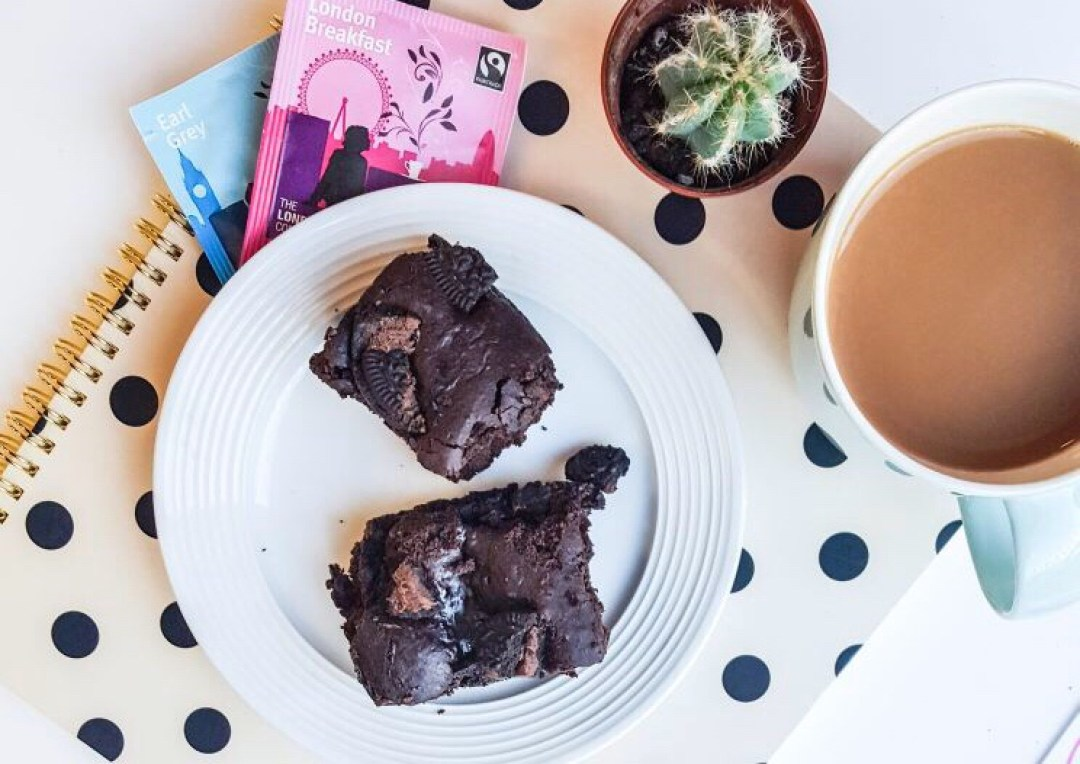 Vegan Oreo Brownies recipe on francescasophia.co.uk