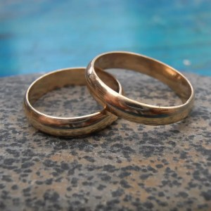 Ethical gold wedding bands