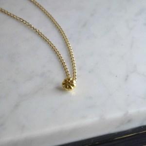 18ct gold Peyote Pendant