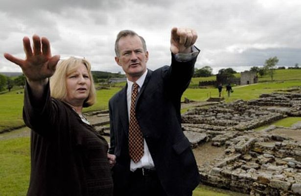 john-penrose-with-patricia-birley-of-vindolanda-721127435