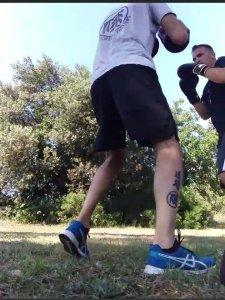Francesco Dal Pino Sandro Cardelli addestramento Dojo ruan boxina in Versilia