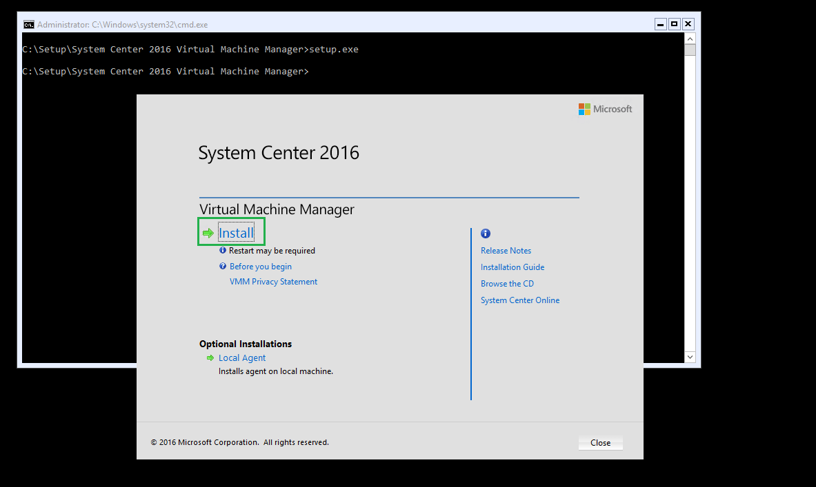 System Center 2016: upgrade of Virtual Machine Manager in high