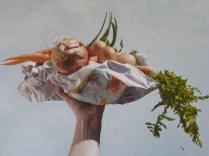 Patrizia Zara, Le margherite sono per te, 60x80, alchidico