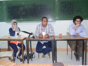 Activists from the Egyptian Center for Economic and Social Rights; 28 March 2013; Photo by Frances Hasso