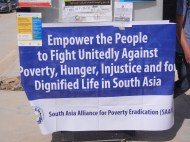 South Asian activists; 27 March; Manar Univ,; photo by Frances Hasso