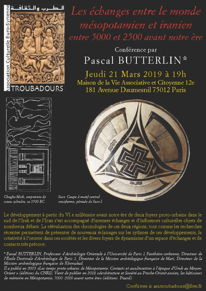 Association Troubadours | Conférence  Pascal BUTTERLIN
