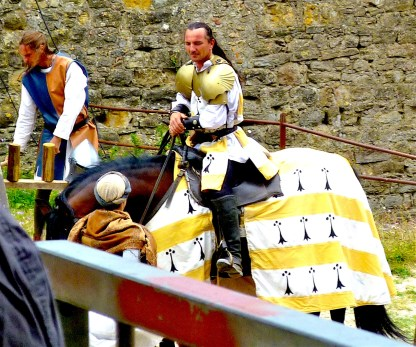 medieval rodeo yellow knight