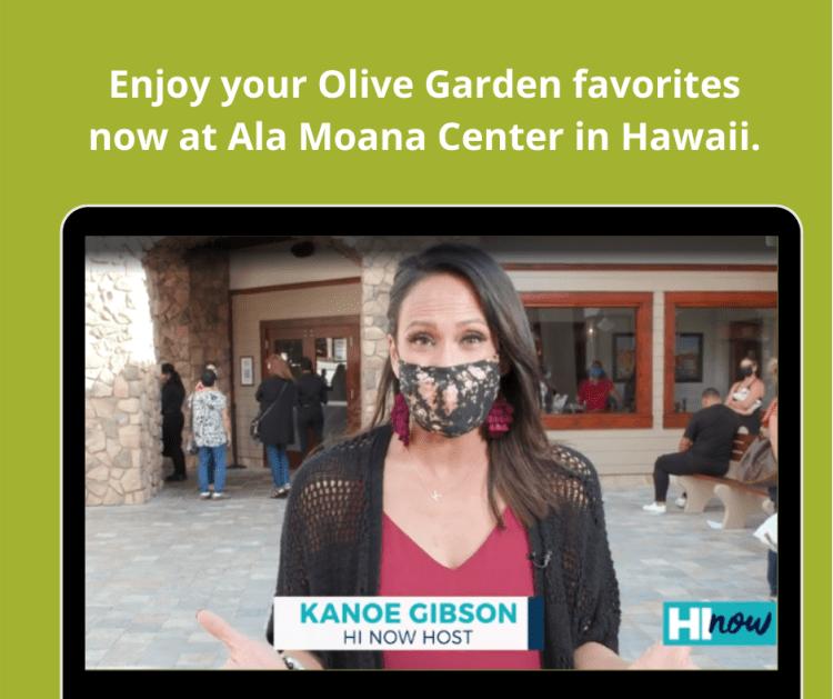 Enjoy your Olive Garden favorites now at Ala Moana Center in Hawaii. Olive Garden franchising.