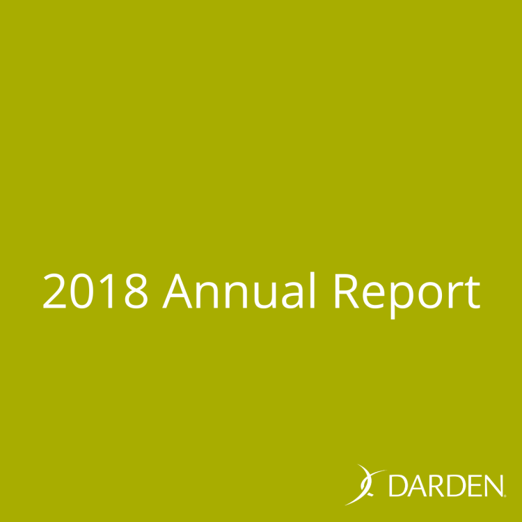 Darden Restaurants 2018 Annual Report with fourth quarter and full year results. Darden International and Franchising