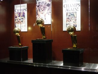 NBA Finals Trophies