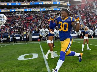 Todd Gurley celebrates