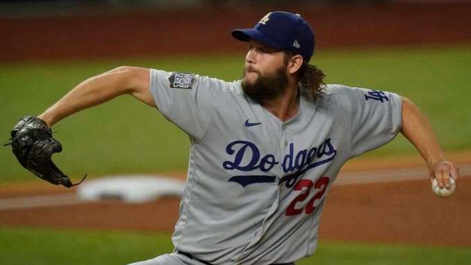 Clayton Kershaw pitches in Game 5 World Series