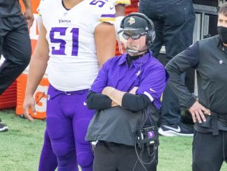 Mike Zimmer on the sideline