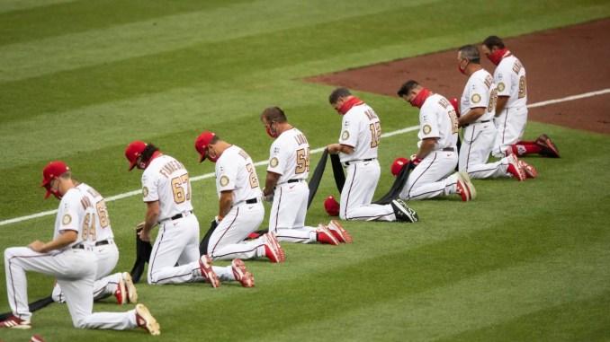Washington Nationals take knee