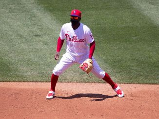 Didi Gregorius at shortstop for the Phillies