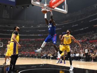 Montrezl Harrell dunks vs the Lakers