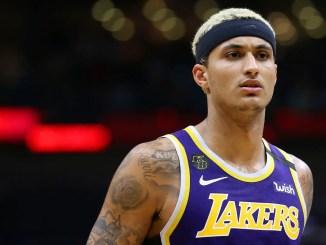 Kyle Kuzma purple Lakers jersey