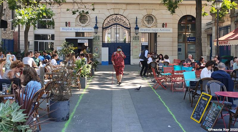 Fotogalería-la-reapertura-de-cafés,-bares-y-restaurantes-en-París ©Francia Hoy 2020