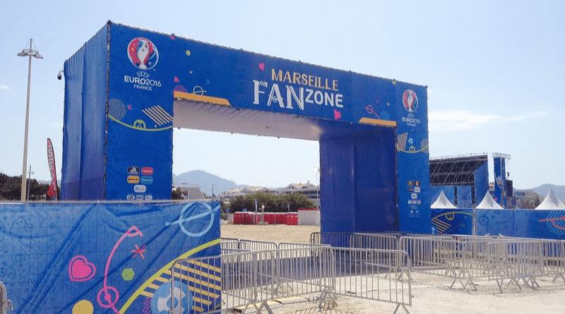 Fan zone de Marsella durante la Euro 2016 © Jopa Elleul