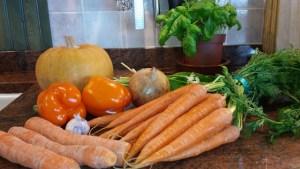 Ingrediënten voor mijn Oranje soepje