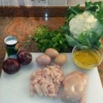 Ingrediënten voor de bloemkoolrijst met curry