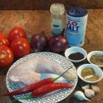 Ingrediënten voor de saus