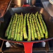 Pasta met gegrilde groene asperges_182249