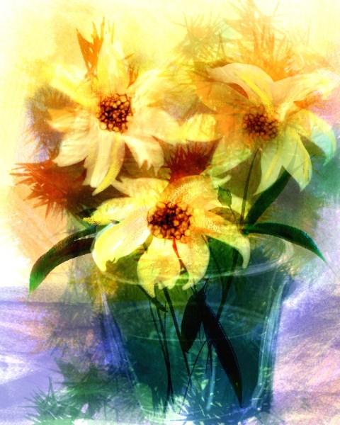 Sunflowers Digital Watercolors