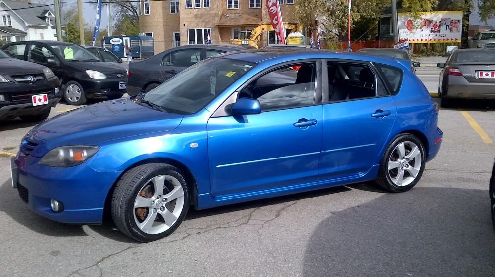 Blue 2004 Mazda Mazda3 Gt 4dr Sport 4 Door Hatchback