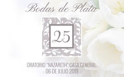 Invitación a las Bodas de Plata Hna. Ma. Lupita de Cristo Rey