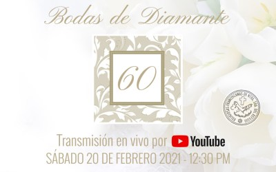 Invitación a la Eucaristía de Jubileo – Bodas de Diamante
