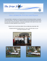Friar Flyer – Special Edition – Fr. John's Visit to Vietnam
