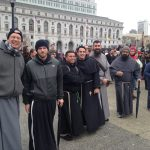"""Friars at the """"Walk for Life"""" in San Francisco"""