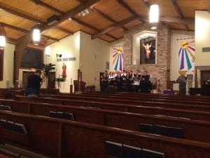 filming Lessons and Carols