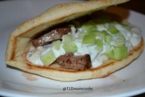 Greek steak pitas C