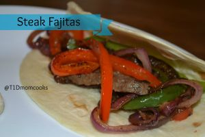 steak fajitas from leftovers T (2)c for cook and count