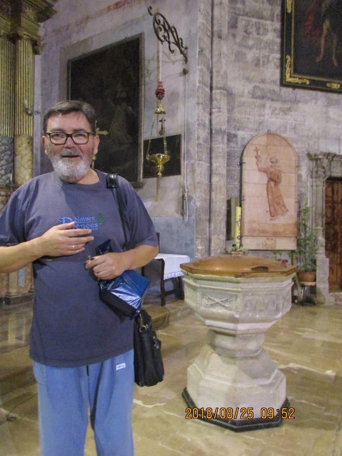 Baptismal front for Miquel Joseph Serra i Ferrer