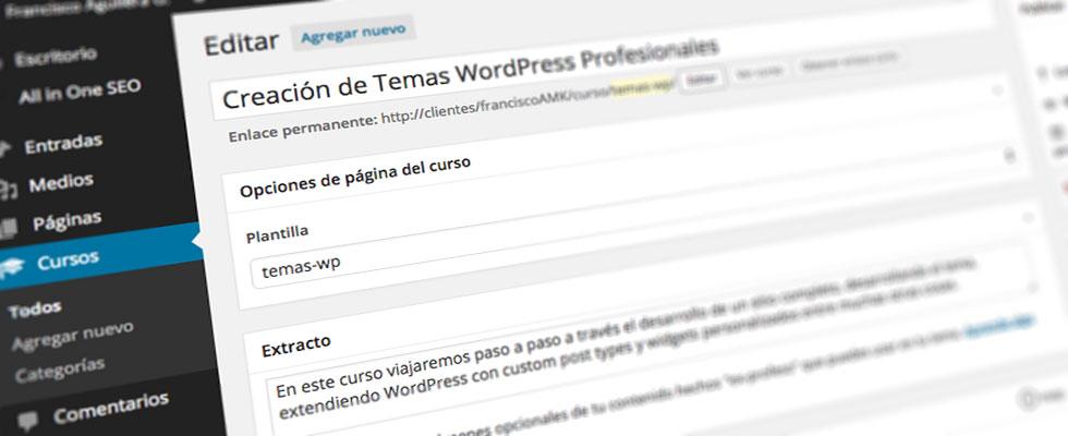Usar plantillas de página en custom post types de WordPress ...