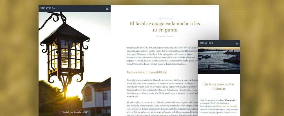 Cómo nació mi primer tema WordPress comercial - Francisco Aguilera G.