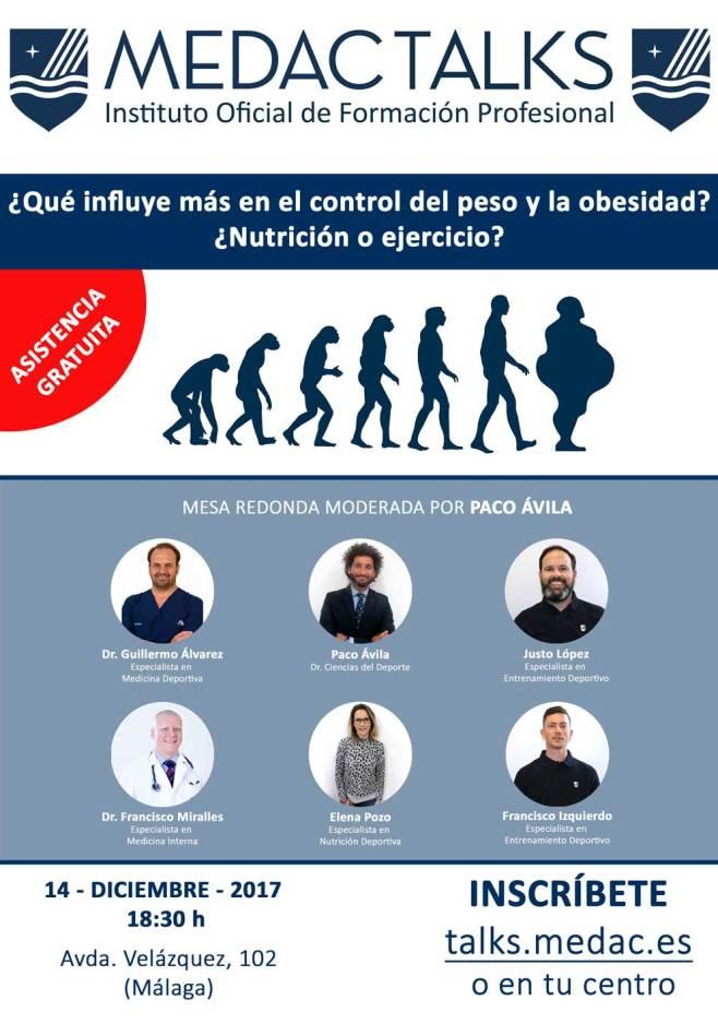 Imagen del cartel de Nutrición o ejercicio para combatir la obesidad