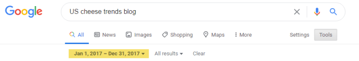 screenshot of google search bar