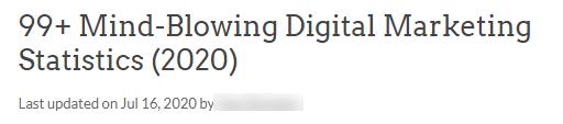 99+ Mind-Blowing Digital Marketing Statistics (2020)