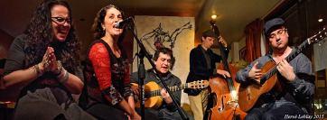 Cabaret Flamenco- Kristin Molnar, Lucie Trudelle, Stefano Pando, Jérémie Jones et Francis Leclerc.