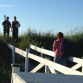 Shooting avec Annie Dussault sur les Aboitaux. Espace Armand-Vaillancourt, Saint-André-de-Kamouraska.