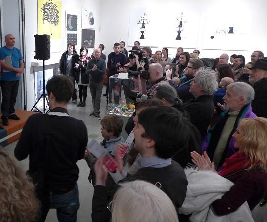 """Inauguración de la muestra """"Cuba en vivo"""", Centro de Arte Contemporáneo DOX, Praga, enero 2016."""