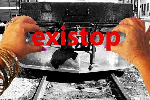 """""""ExiStop"""". Poema visual de Francis Sánchez."""